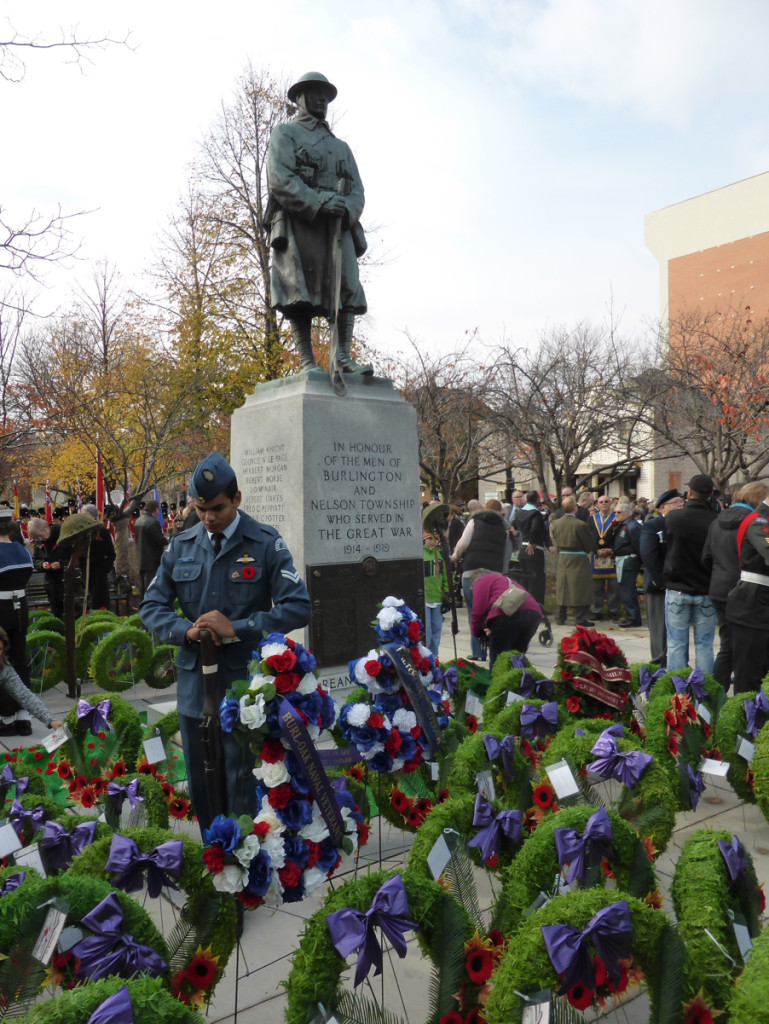 Remembrance Day November 11, 2015, Burlington, Canada