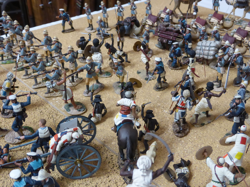 Detail of a display on the Colonial Wars