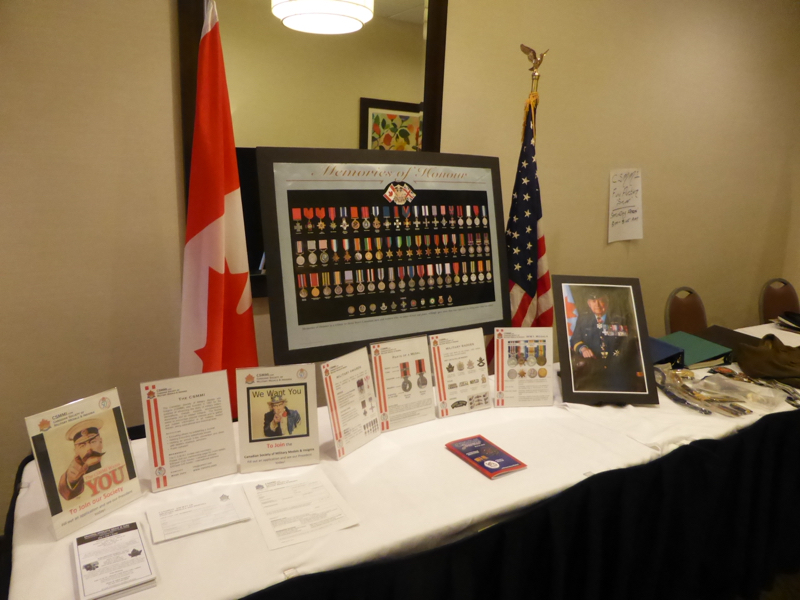 The CSMMI display educates visitors on the basics of medal, badge and insignia